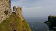 IAS Student at Dunluce Castle