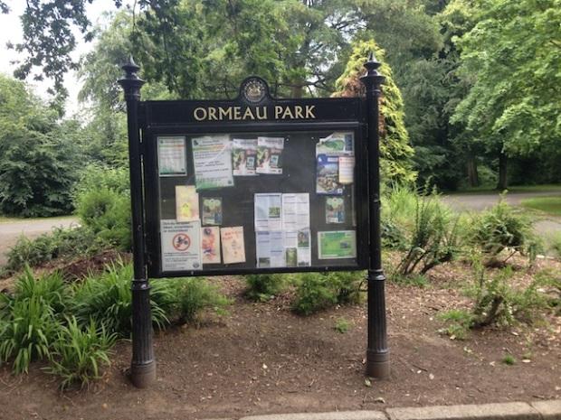 Ormeau Park sign
